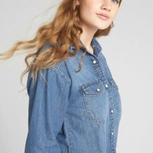 New gap jean shirt also can be worn as jacket